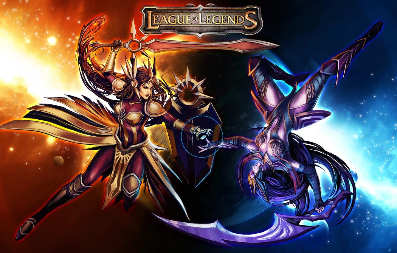 Wallpaper Thq League Of Legends Lol Leona Lol Diana League