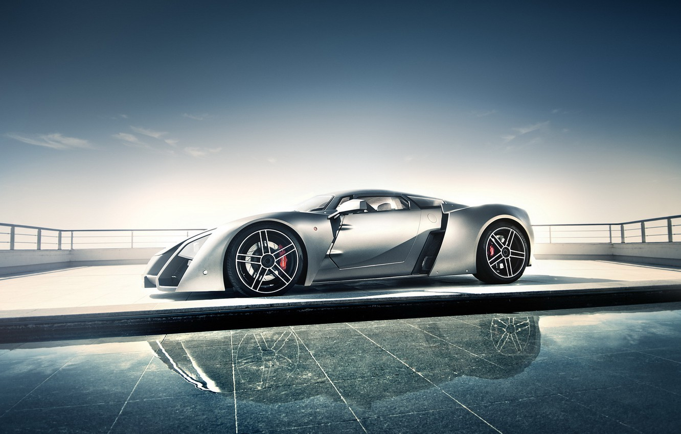Photo wallpaper supercar, rechange, marussia b2