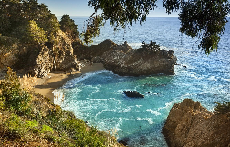 Photo wallpaper Beach, California, Shoreline