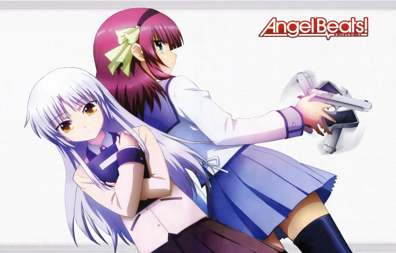 Photo wallpaper weapons, girls, Kanade Tachibana, Angel Beats, Nakamura Yuri