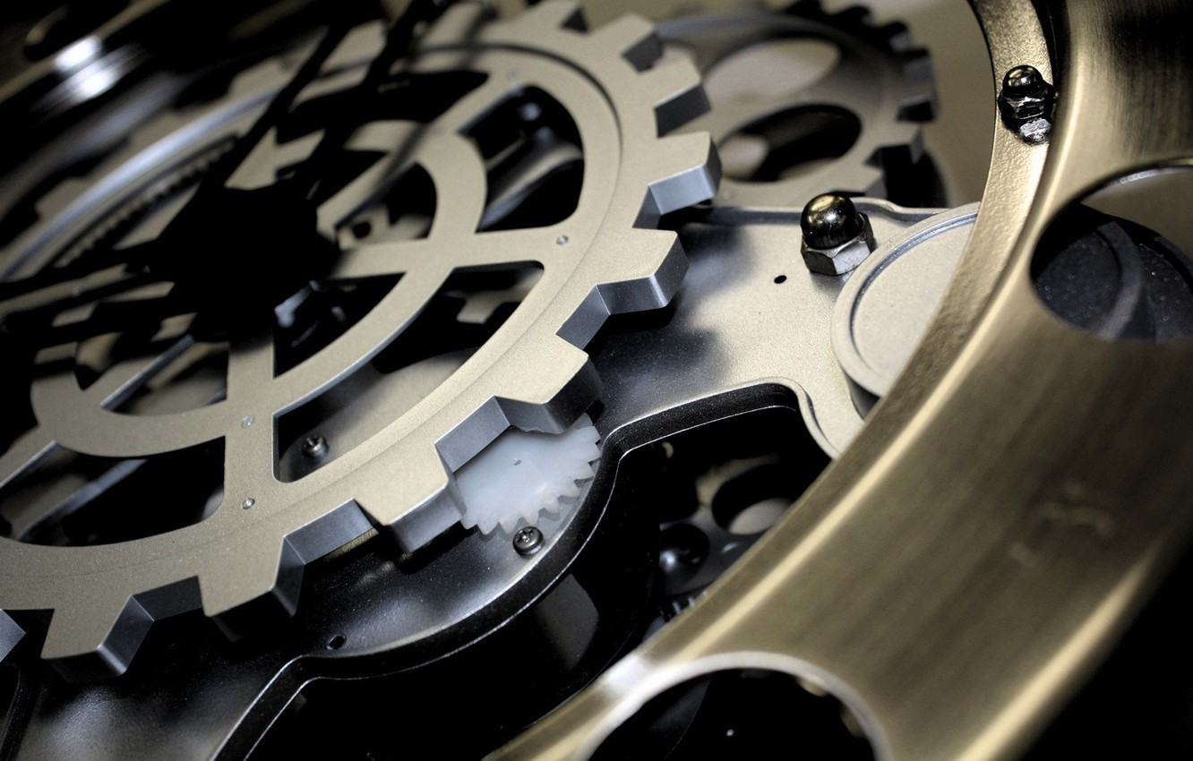 Photo wallpaper watch, mechanism, gear