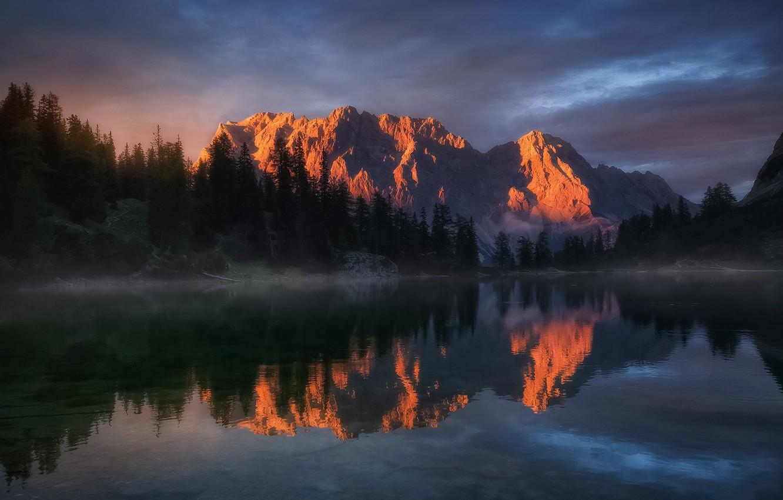 Photo wallpaper Landscape, Water, Germany, Beauty, View, Lake