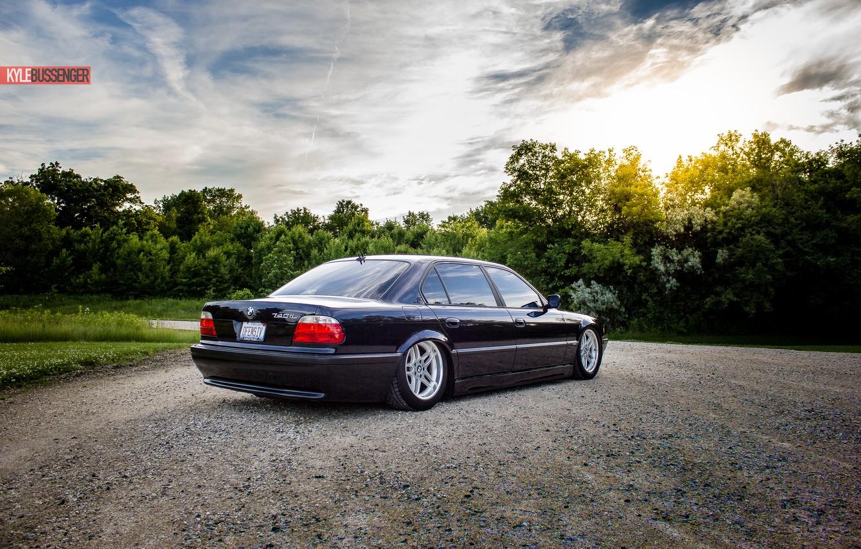 Photo wallpaper BMW, Boomer, tuning, Stance, E38