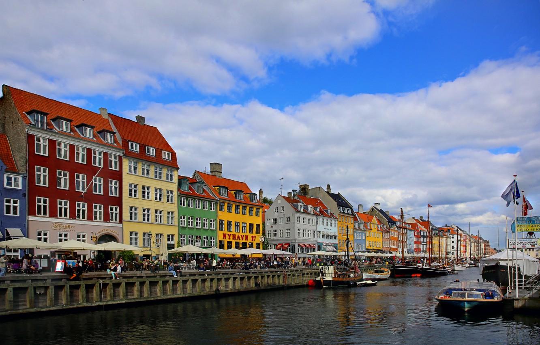 Photo wallpaper home, Denmark, promenade, the urban landscape, Copenhagen