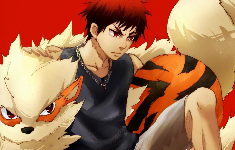 Photo wallpaper anime, art, guy, Kuroko From Basket, Kuroko's Basketball, Kagami Taiga