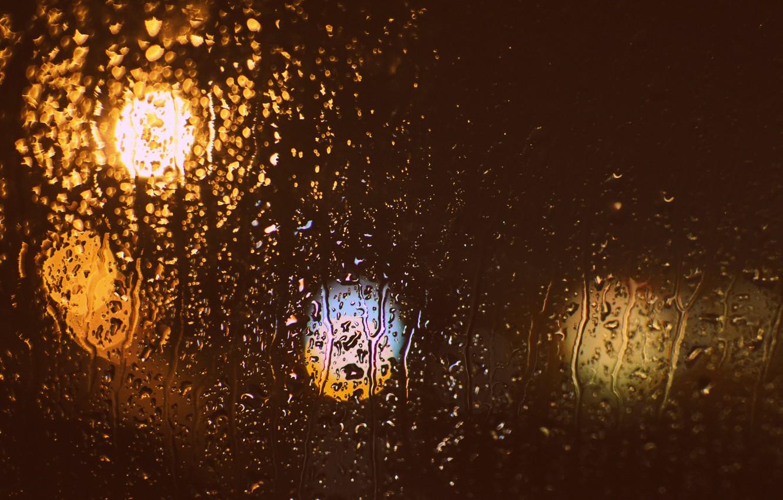 Photo wallpaper glass, drops, bokeh