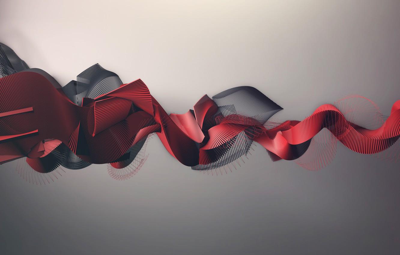 Photo wallpaper abstraction. bending, volume graphics, array