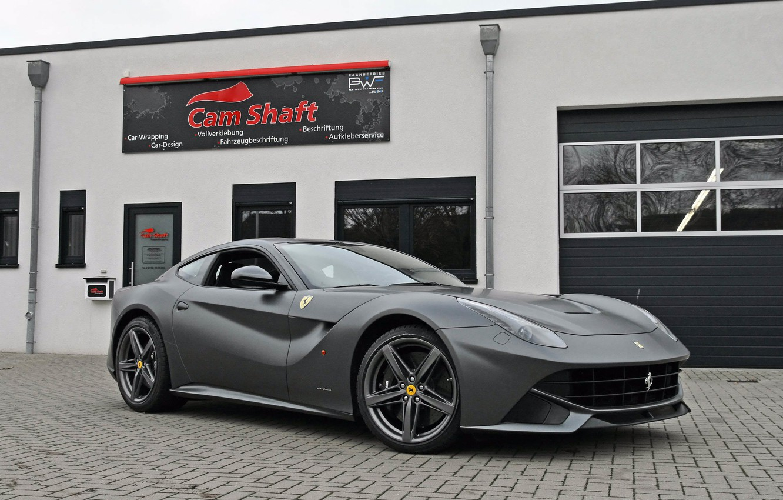 Photo wallpaper the building, Ferrari, silver, berlinetta, Berlinetta, F12, the ferrari f12, cam shaft