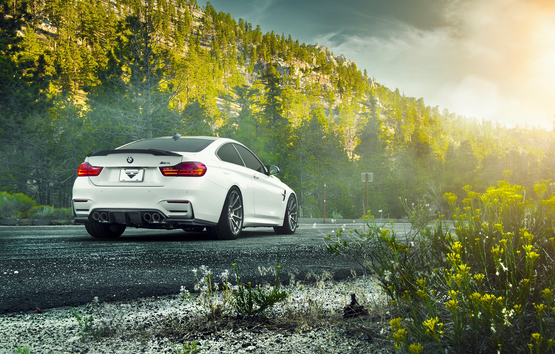 Photo wallpaper BMW, Car, Vorsteiner, White, Wheels, F82, Rear, V-FF, 102