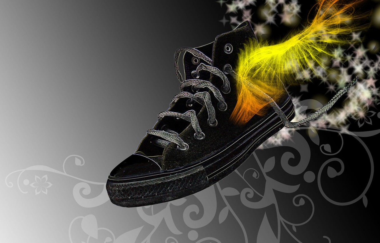 Photo wallpaper style, fiction, Wallpaper, figure, sneakers
