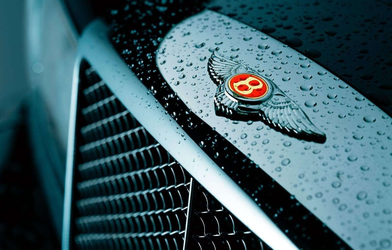 Photo wallpaper Logo, Bentley, Grille