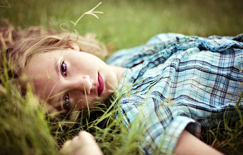 Photo wallpaper mood, portrait, girl