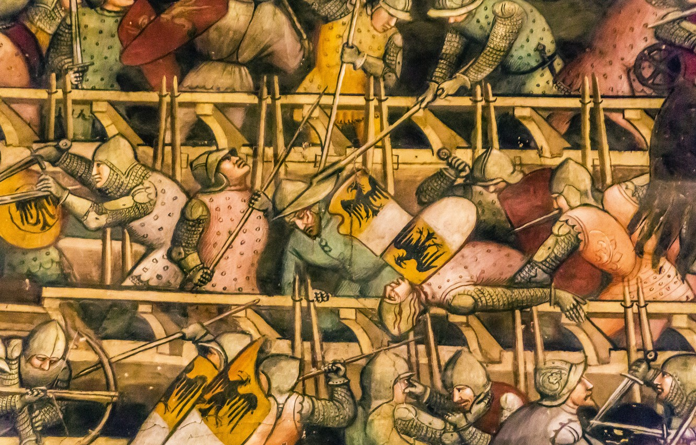 Photo wallpaper wall, war, battle