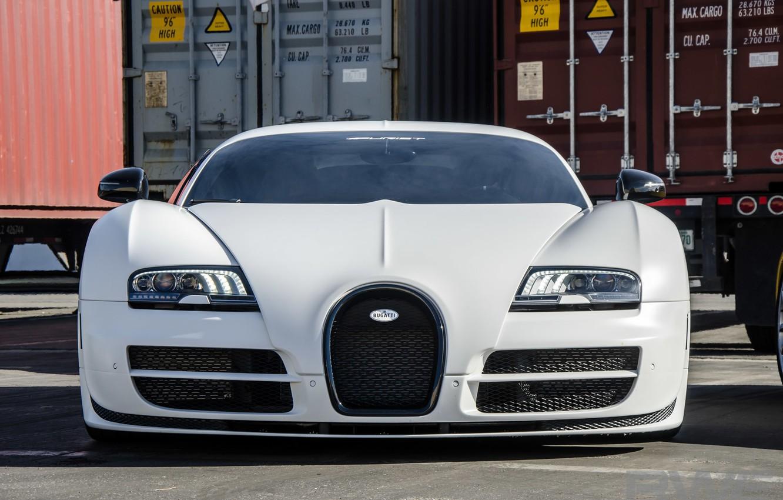 Photo wallpaper veyron, sport, bugatti, white, super
