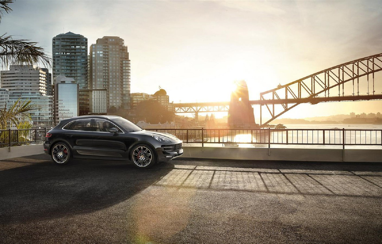 Photo wallpaper Porsche, Turbo, Performance, Macan