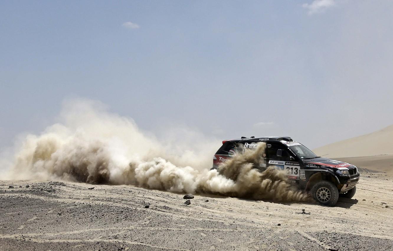 Photo wallpaper Auto, Black, Dust, BMW, Rally, Dakar, Dakar, SUV