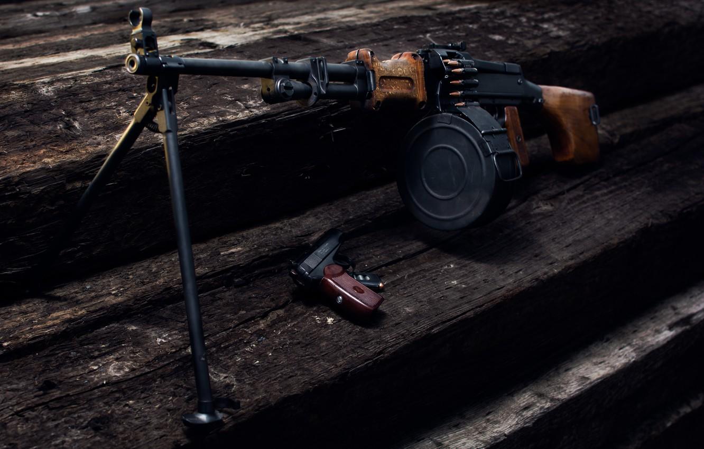 Photo wallpaper gun, weapons, background, RPD, Degtyareva, Makarova, Machine gun