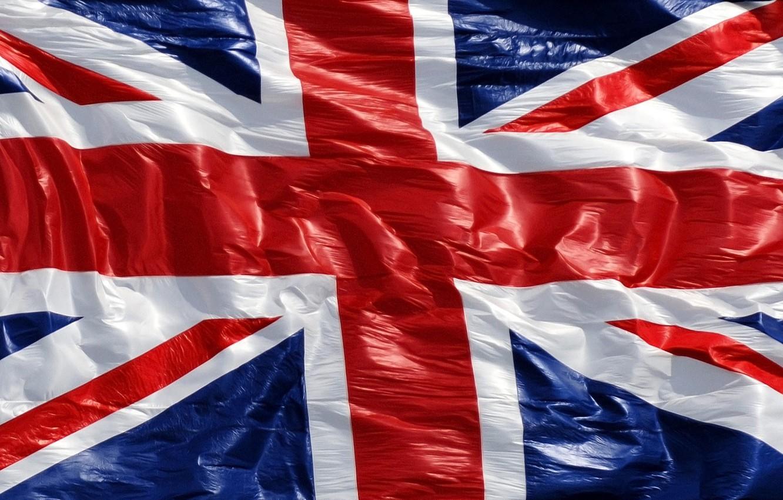 Photo wallpaper England, Red, Blue, White, Strip, Line, Flag, UK, Texture, Canvas, Bruising, Crosses