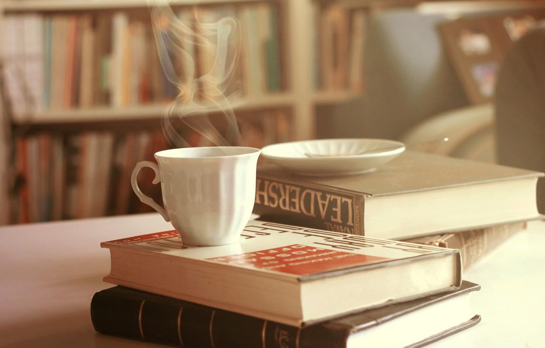 Photo wallpaper books, couples, mug, Cup, saucer