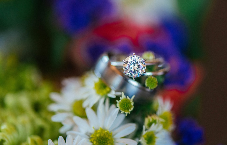 Photo wallpaper stone, ring, wedding