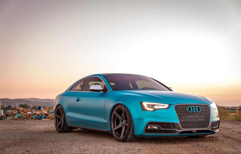 Photo wallpaper Audi, Carbon, Vorsteiner, Graphite