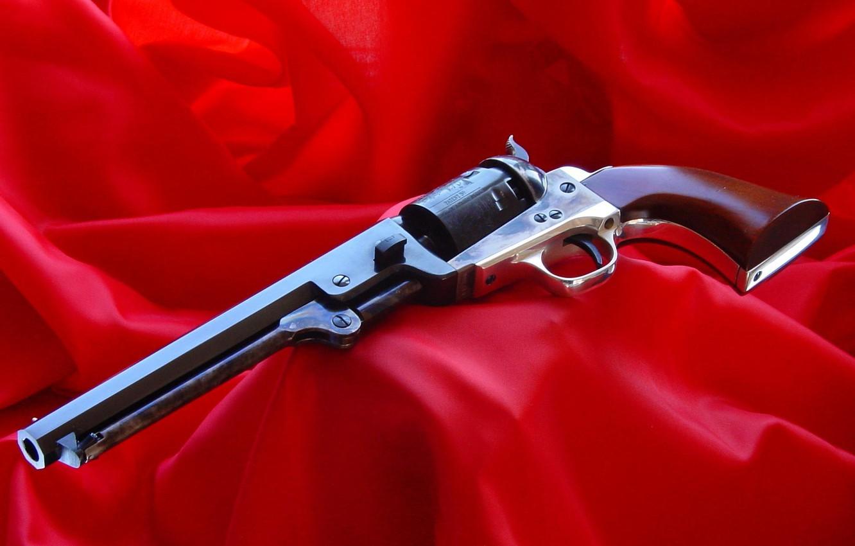 Photo wallpaper trunk, revolver, Western