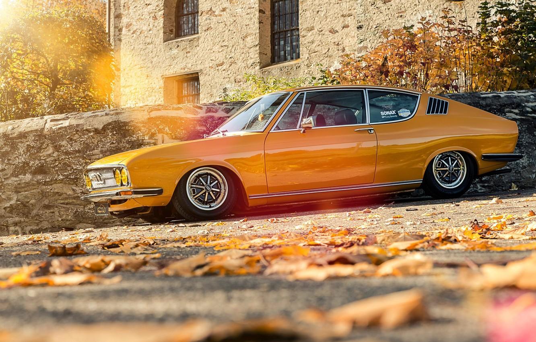 Photo wallpaper Audi, Audi, Autumn, Coupe, 100, Coupe S