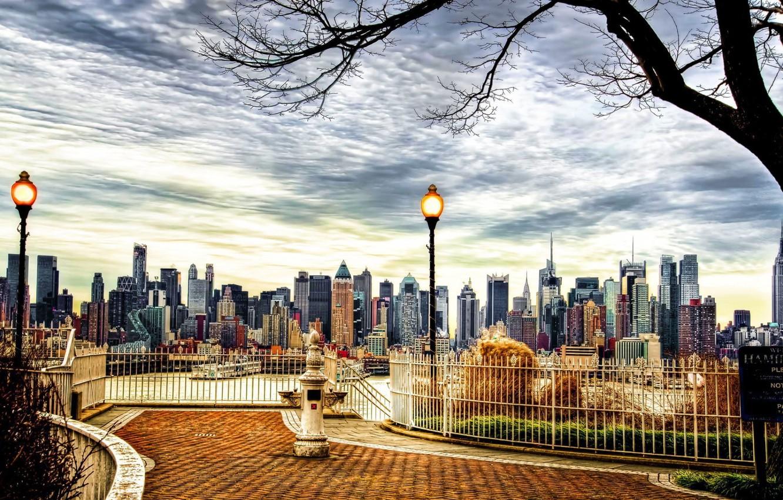 Wallpaper City River Bridge New York Central Park Images For