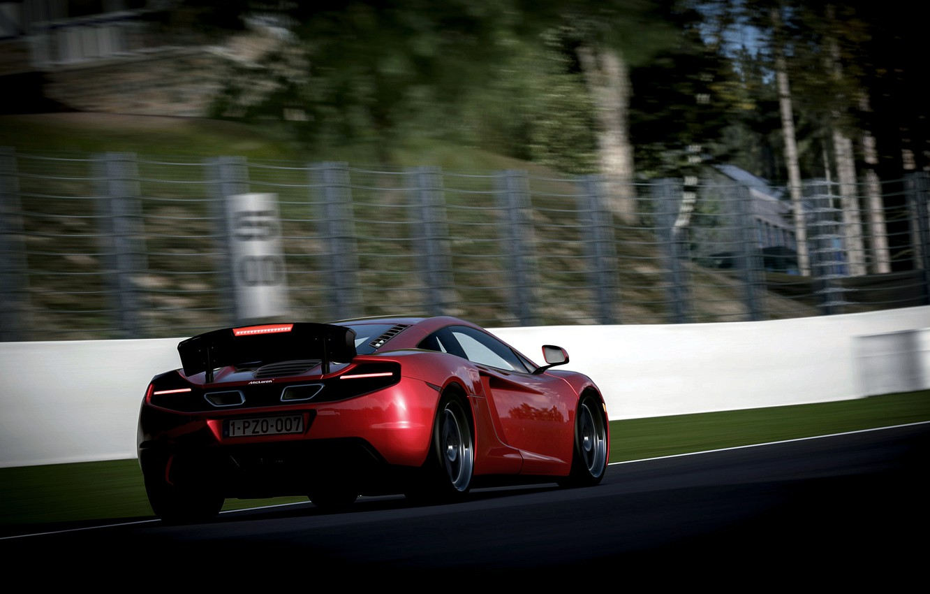Photo wallpaper McLaren, speed, blur