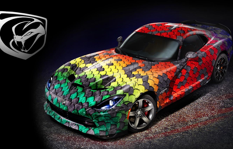 Photo wallpaper supercar, viper, Dodge, Viper, dodge, gtc