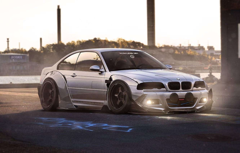 Photo wallpaper BMW, Body, Tuning, Future, E46, Kit, Ligth, by Khyzyl Saleem