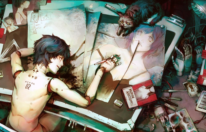 Photo wallpaper figure, robot, Robot, man, asuka, anatomy
