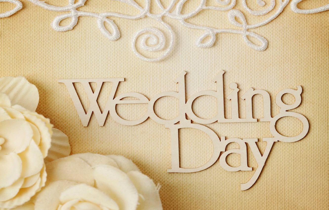 Photo wallpaper flowers, ring, wedding, flowers, background, day, ring, soft, wedding, lace