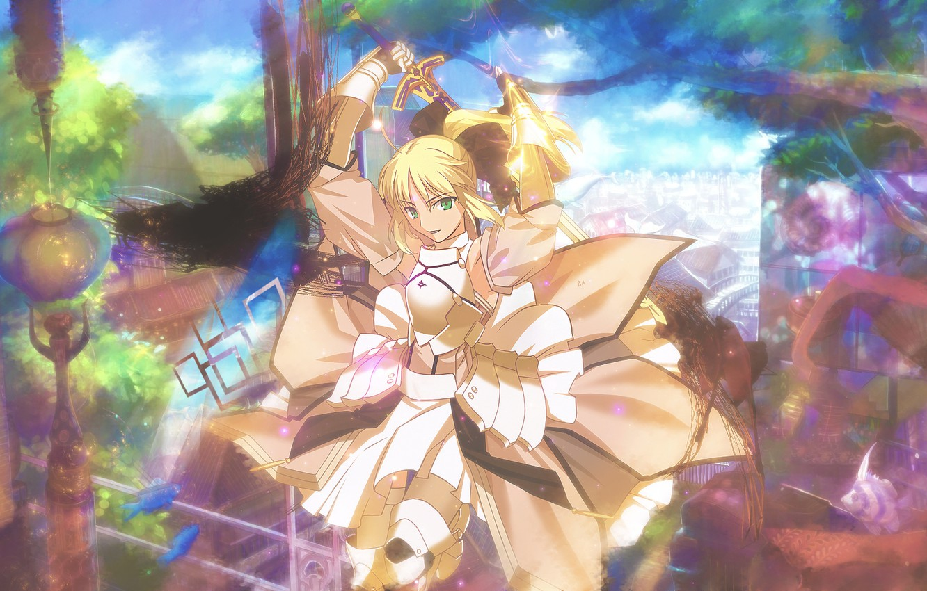 Photo wallpaper weapons, armor, fate stay night, saber lily