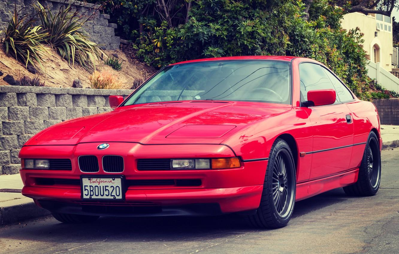 Photo wallpaper Red, BMW, BMW, Red, E31, 1997, 850ci
