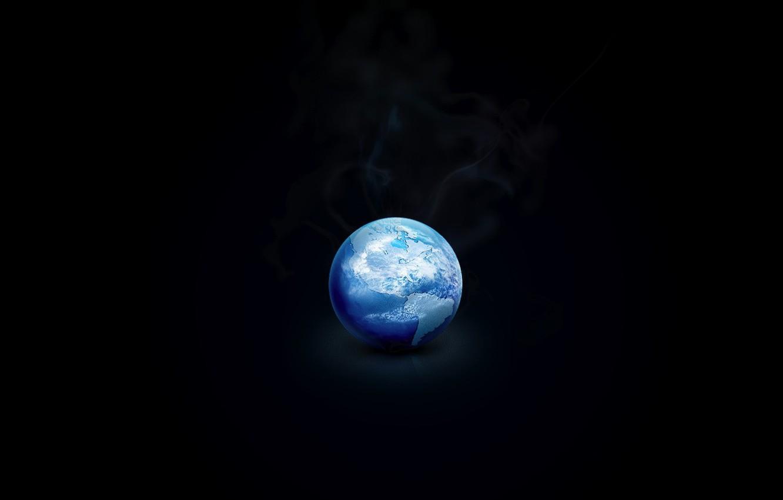 Photo wallpaper ice, earth, black, Planet