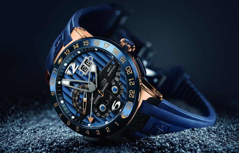 Photo wallpaper chronometer, Ulysses Nardan, blue toro, ulysses nardin