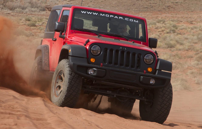 Photo wallpaper sand, machine, Concept, jeep, the concept, the front, Slim, Wrangler, Jeep