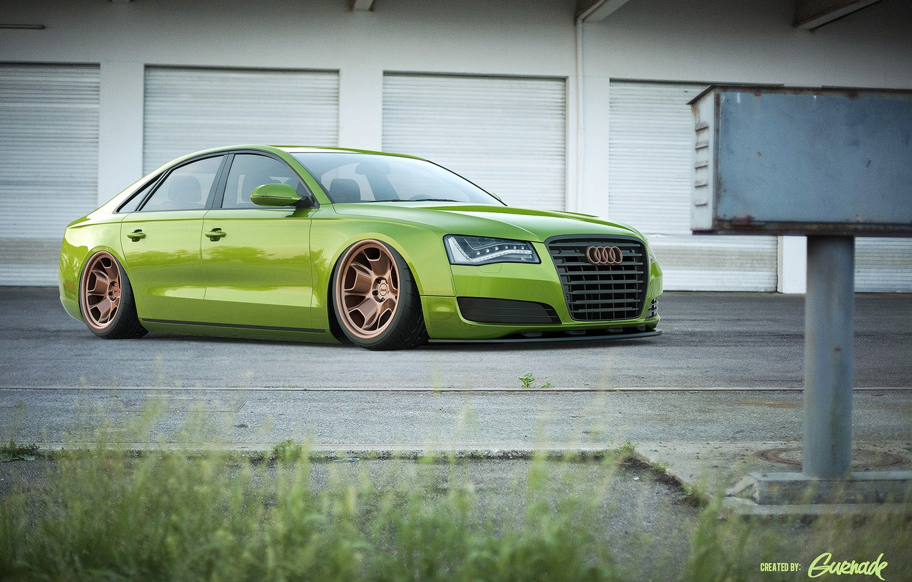 Photo wallpaper Audi, green, Audi, green