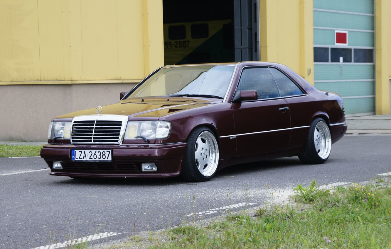 Photo wallpaper mercedes-benz, coupe, w124, c124