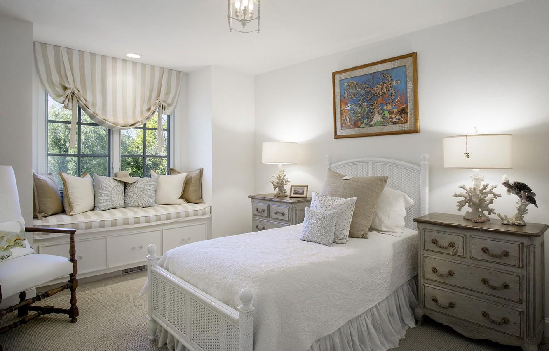 Photo wallpaper design, bed, window, bedroom, chest