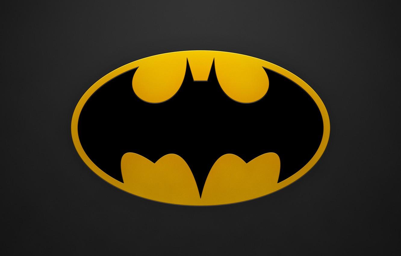Photo wallpaper batman, sign, minimalism, hero, bat, minimalism, sign, bat, 2560x1600, hero