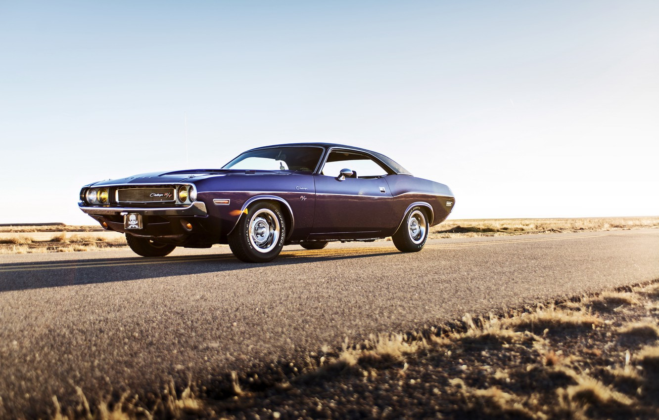 Photo wallpaper Dodge, Challenger, muscle car, 1970, lunchbox photoworks