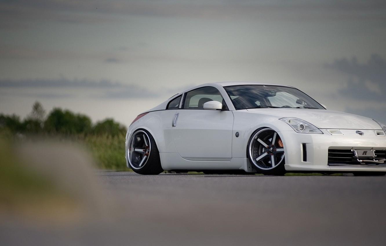 Photo wallpaper asphalt, nissan, 350z, drives, Nissan