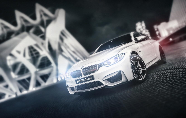 Photo wallpaper white, BMW, BMW, white, Coupe, front, F82, Blind Sarathonux