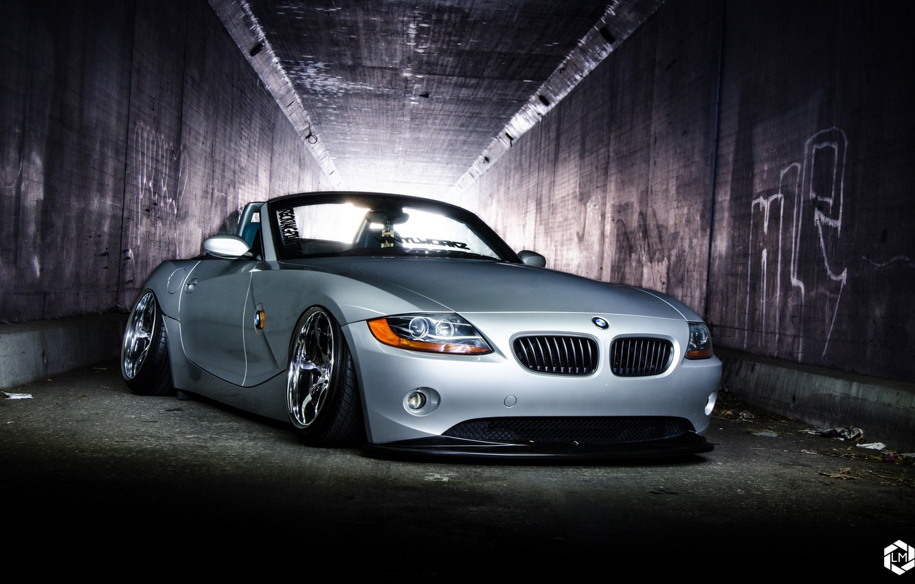 Photo wallpaper car, bmw z4, stance, hq Wallpapers