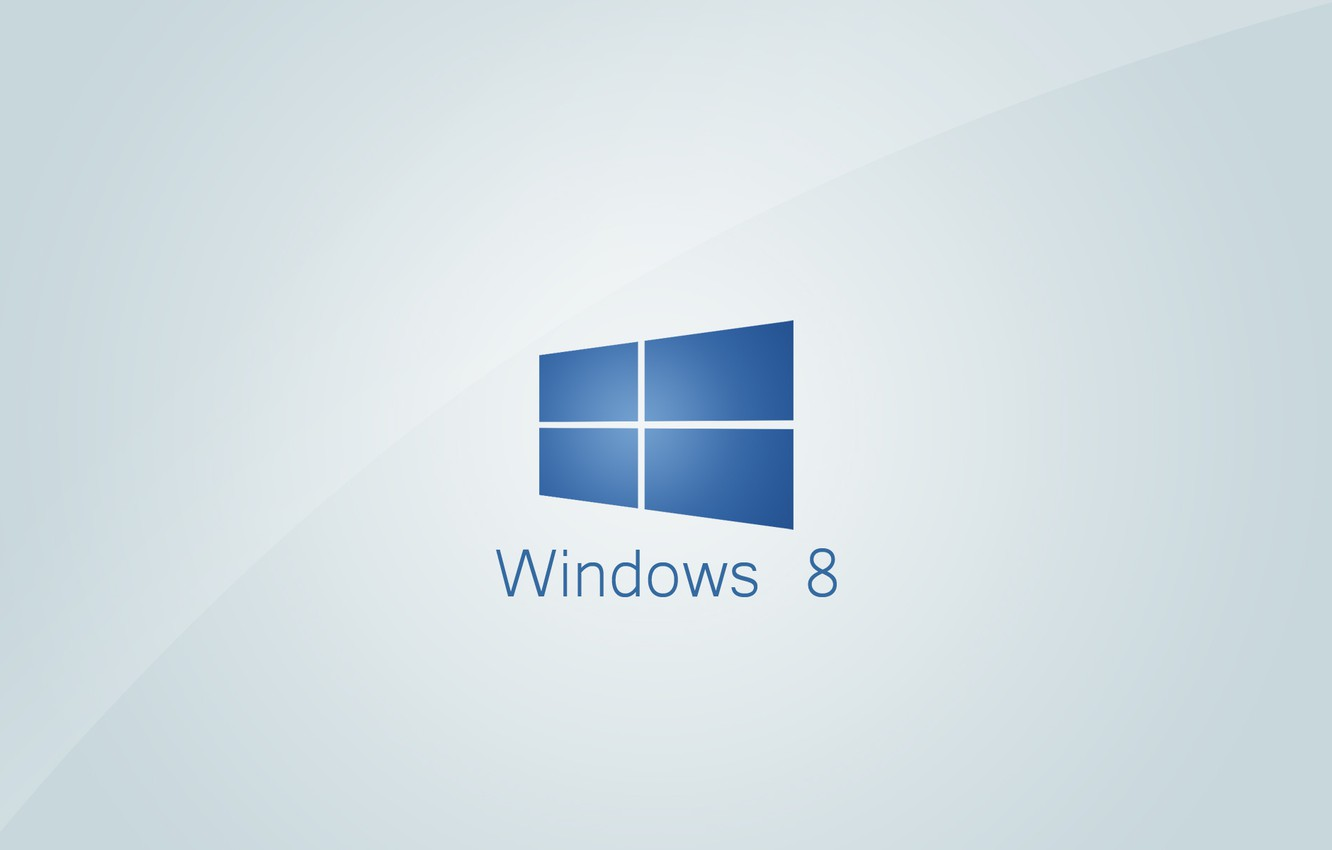Photo wallpaper Windows, logo, eight, operation system