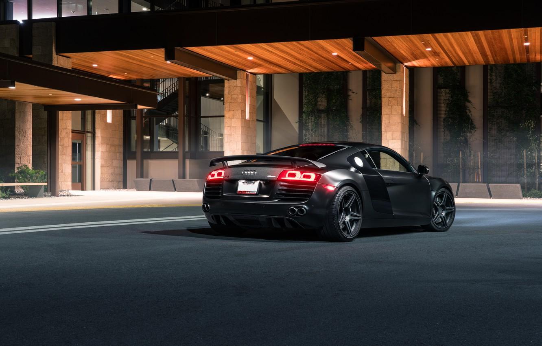 Photo wallpaper Audi, Black, Redwood, Exotic, Rear, SS Customs