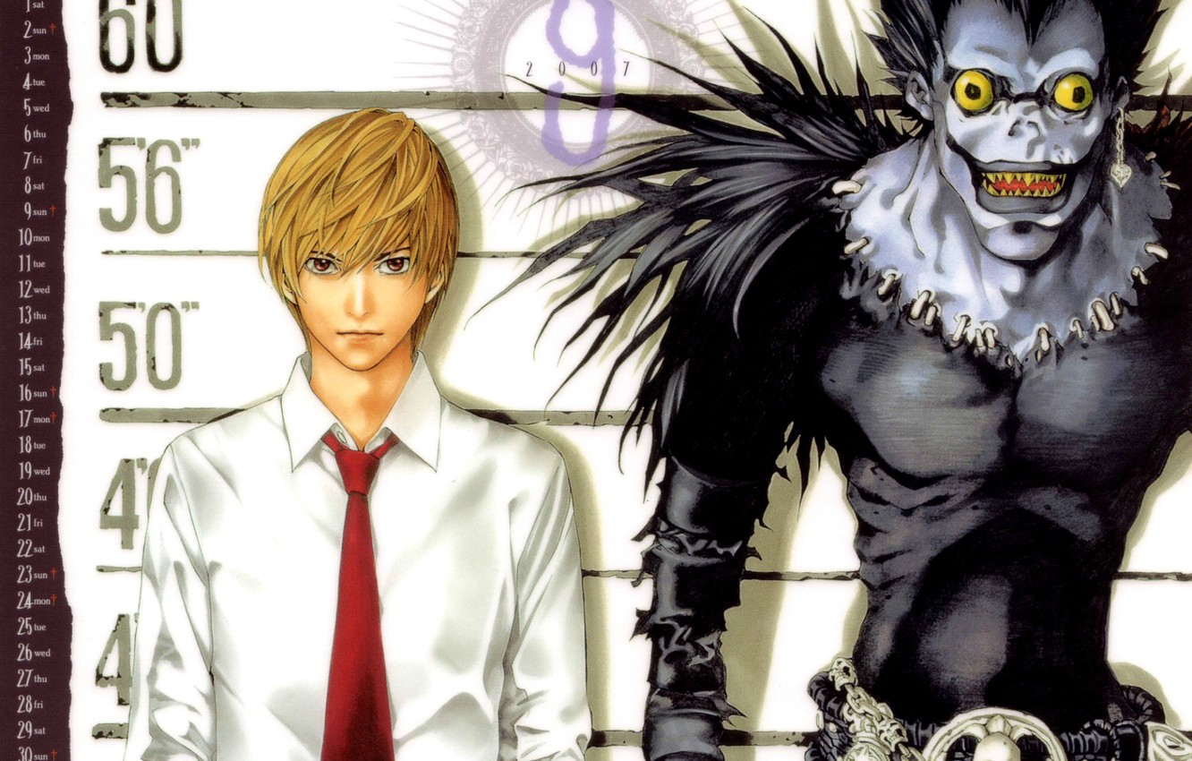 Photo wallpaper monster, mouth, Death note, killer, Death note, crazy eyes, Ryuk, Yagami Light, the God of …