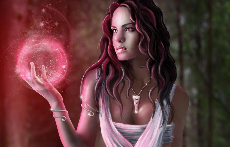 Photo wallpaper girl, decoration, magic, ball, art, pendant, sphere, amulet, Jenny Laatsch